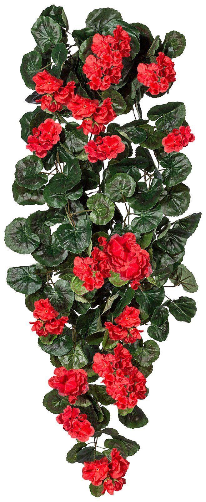 Kunstpflanze »Geranienhänger« rot (H: 90 cm)
