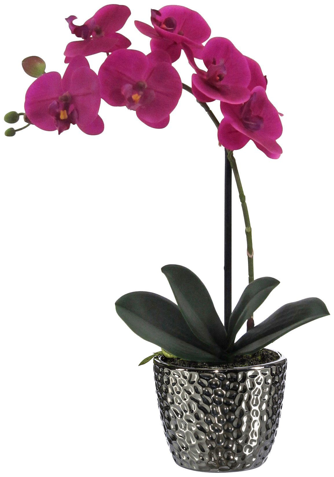 Kunstpflanze »Orchidee« lila inkl. Pflanzgefäß (H: 45 cm)