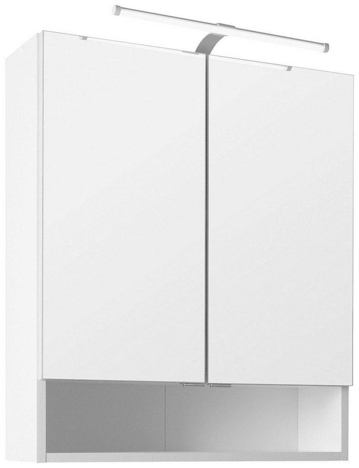 Spiegelschrank Breite 60 cm, mit LED-Beleuchtung in weiß
