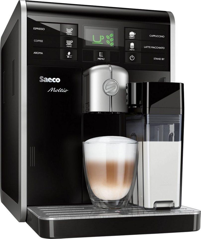 Saeco Kaffeevollautomat »HD8769/01 Moltio One Touch« mit integrierter Milchkaraffe, schwarz in schwarz