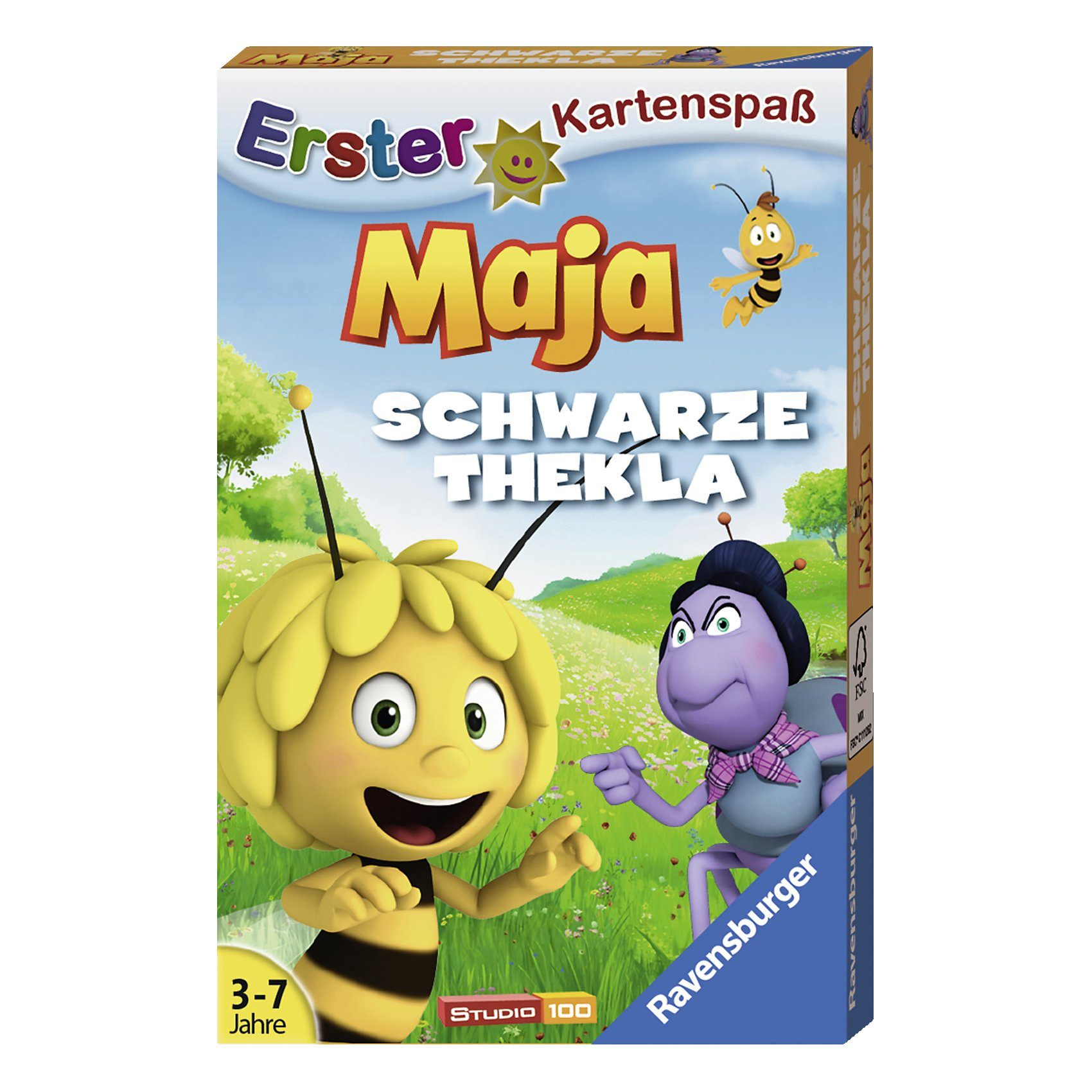 Ravensburger Biene Maja Kartenspiel Schwarze Thekla