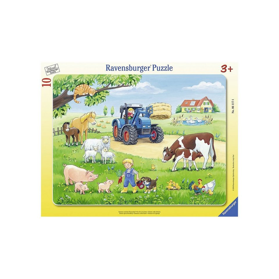 Ravensburger Rahmenpuzzle Sommer auf dem Bauernhof 10 Teile