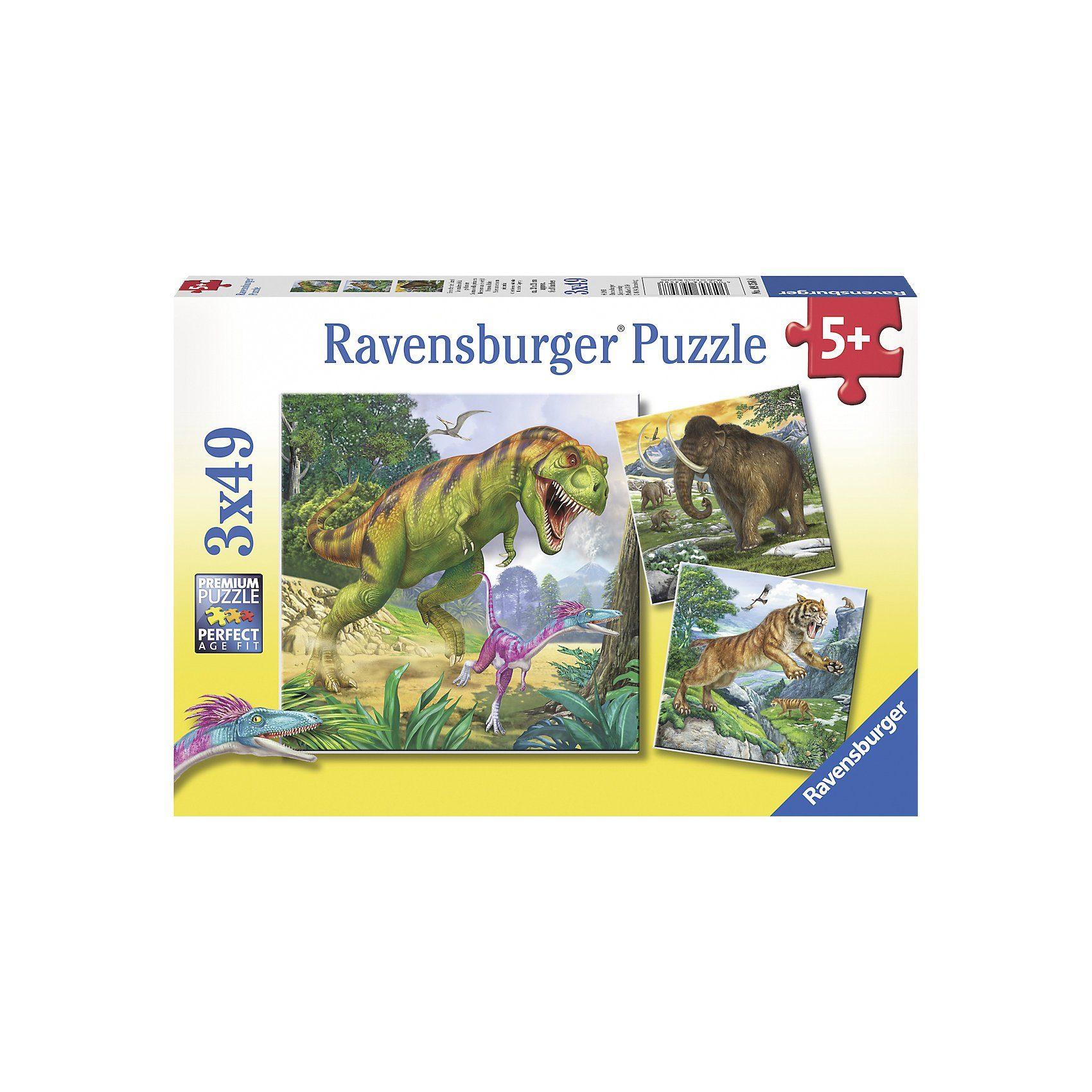 Ravensburger Puzzle Herrscher der Urzeit 3 x 49 Teile