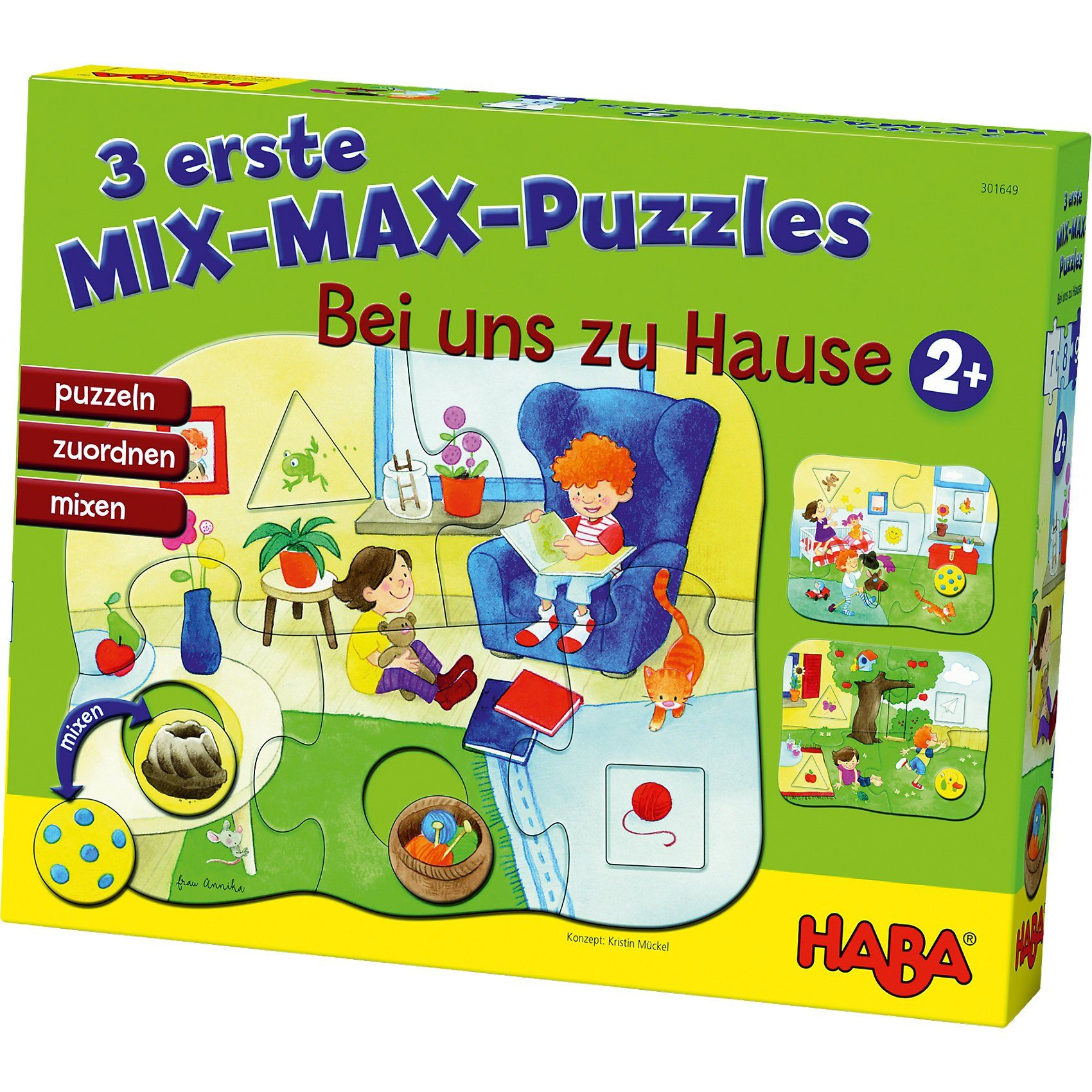 Haba 3 erste Mix-Max-Puzzles - Bei uns Zuhause