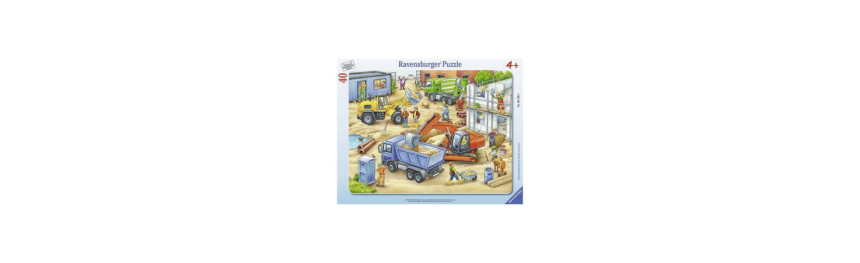 Ravensburger Rahmenpuzzle Große Baustellenfahrzeuge 40 Teile