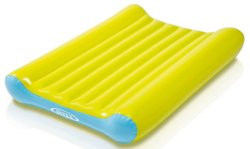 Intex Baby Wickelunterlage zum Aufblasen in gelb-blau