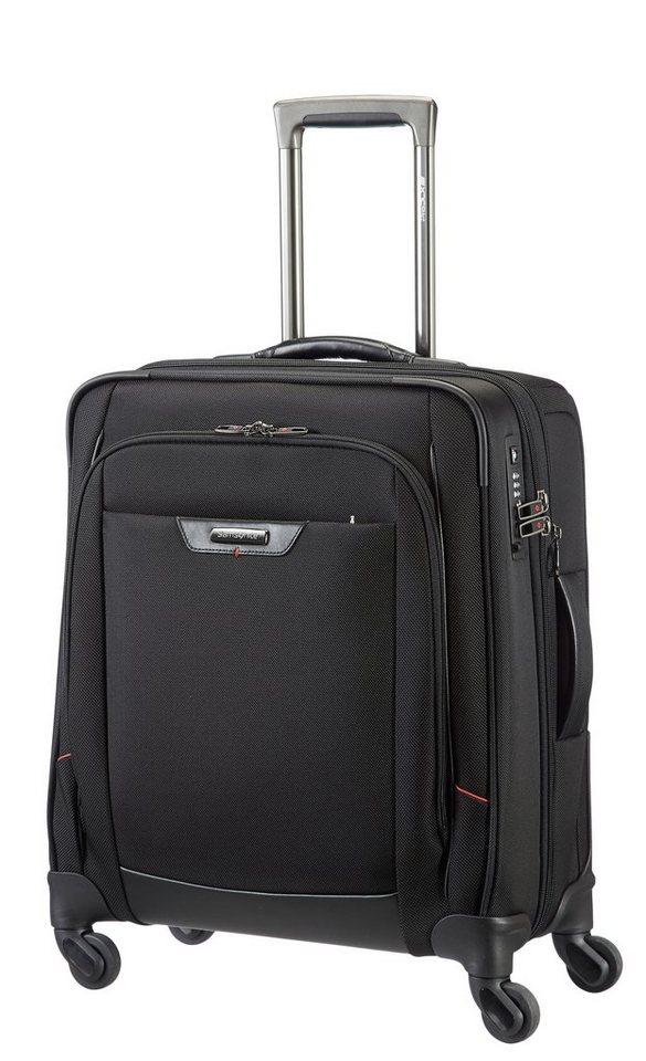 Samsonite Weichgepäck Trolley mit Volumenerweiterung, 4 Rollen und TSA-Schloss, »Pro-DLX4 Spinner in schwarz
