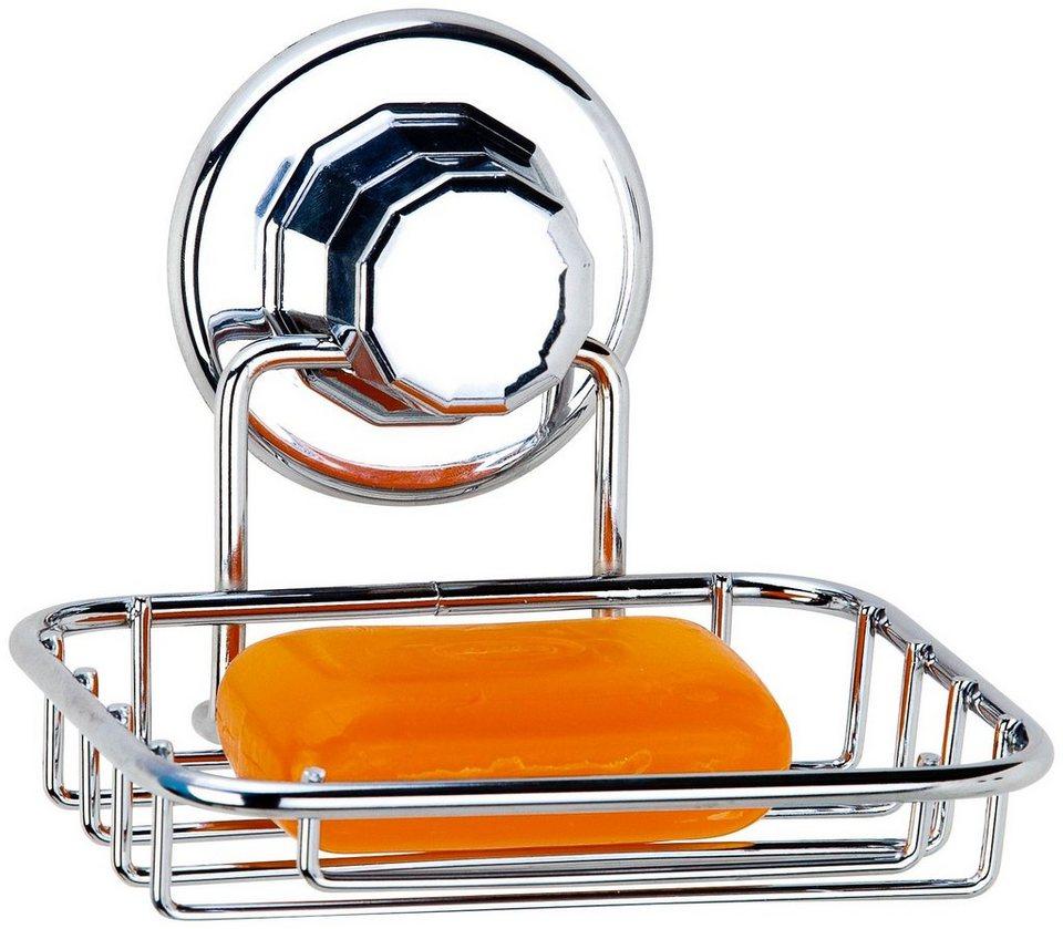 Seifenhalter »Badfix« in silberfarben