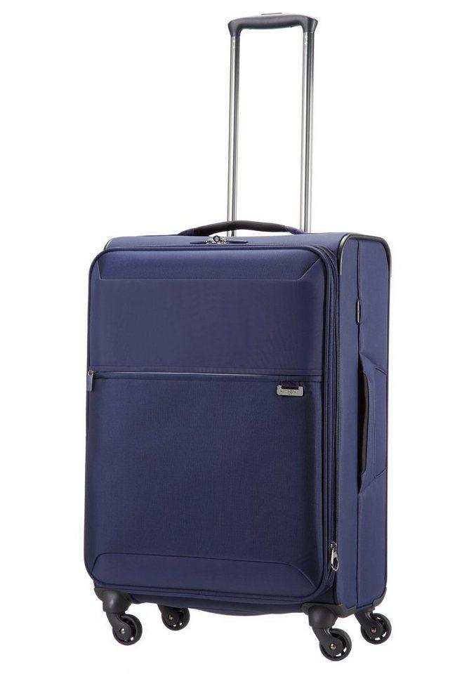 Samsonite Weichgepäck Trolley mit 4 Rollen und Volumenerweiterung, »Short-Lite Spinner« in blue