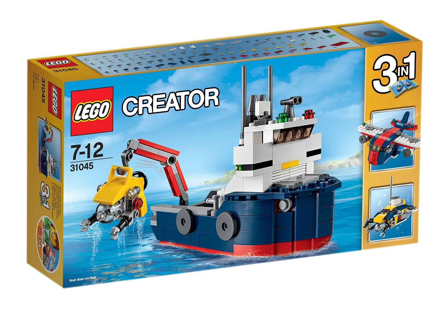 LEGO® 3-in-1-Set Erforscher der Meere (31045), »LEGO® Creator«