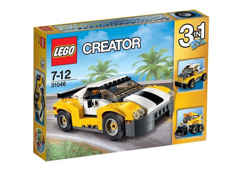 LEGO® 3-in-1-Set Schneller Sportflitzer (31046), »LEGO® Creator«