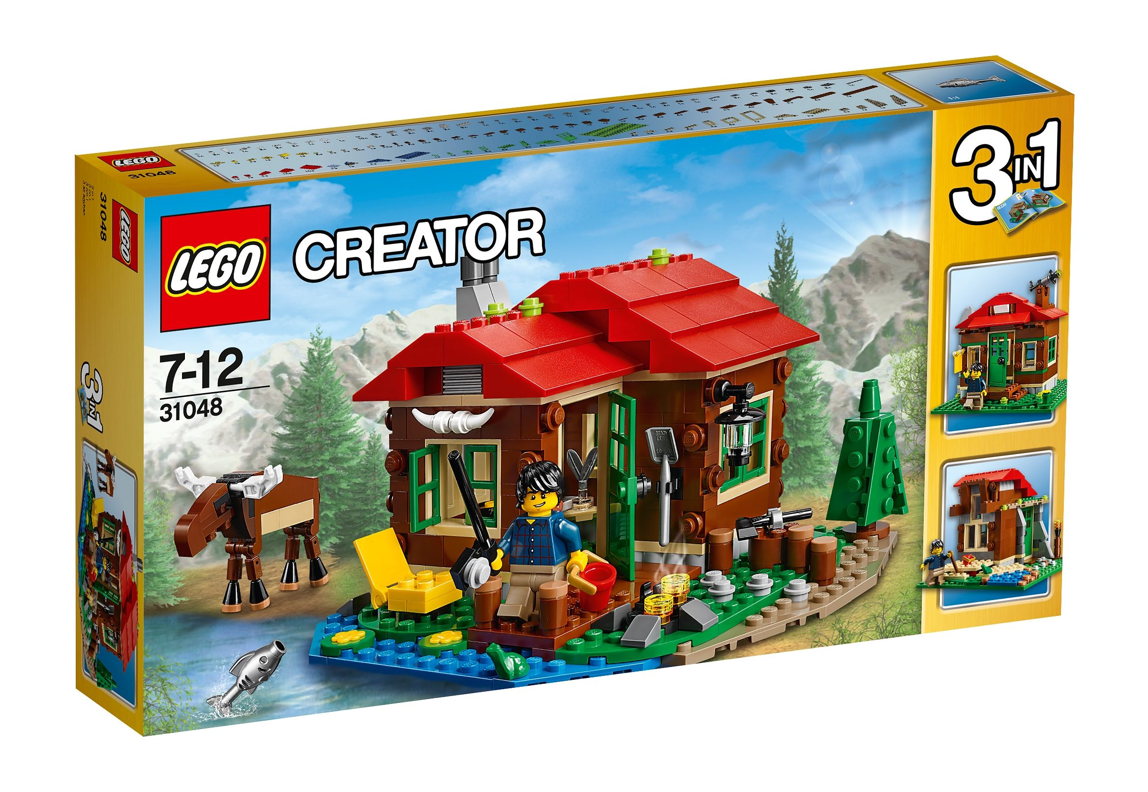 LEGO®, 3-in-1-Modell Hütte am See (31048), »LEGO® Creator«