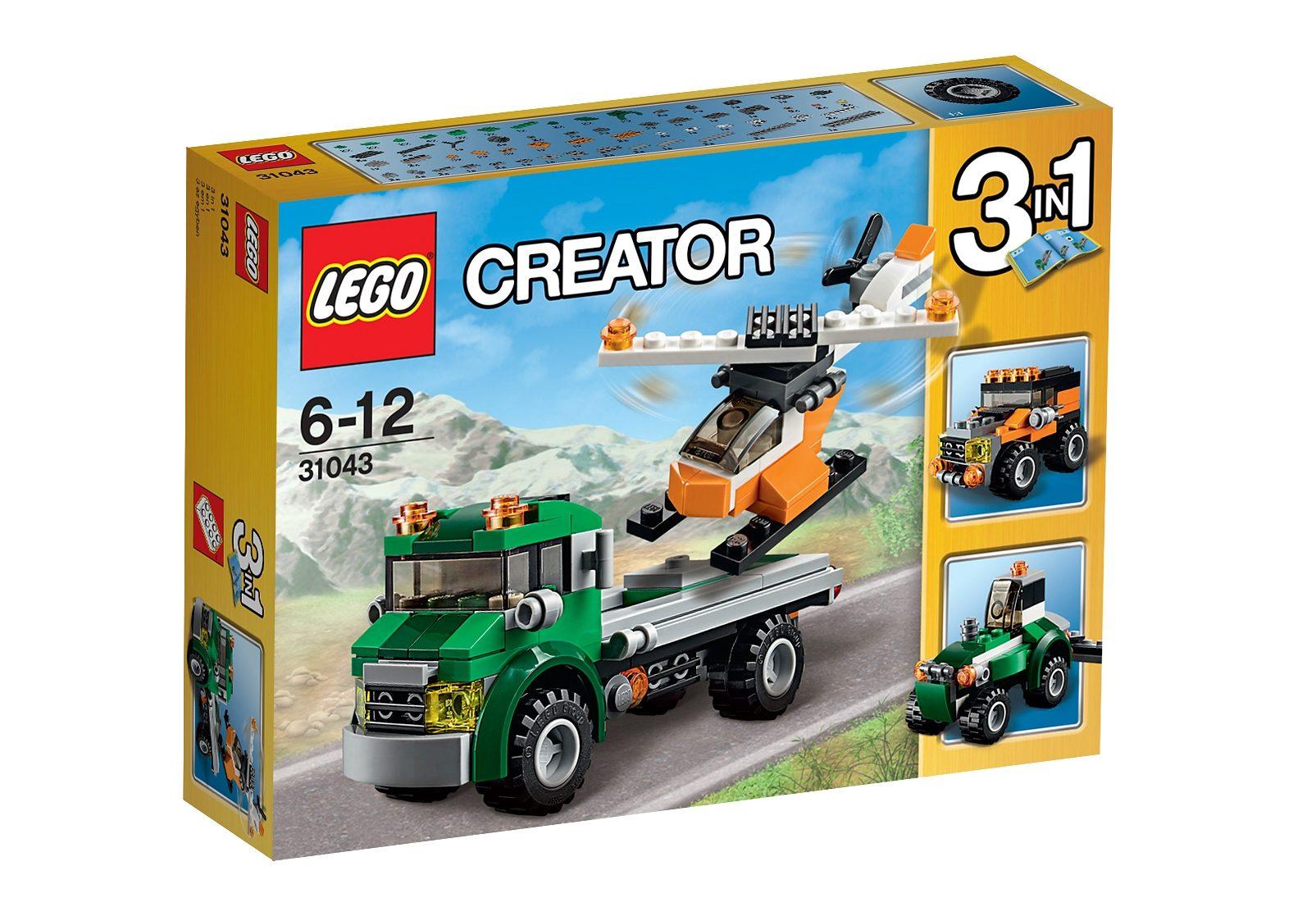 LEGO® 3-in-1 Modell Hubschrauber Transporter (31043), »LEGO® Creator«
