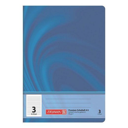 BRUNNEN Schulheft A5 liniert (Lineatur 3) »Vivendi 104570302«