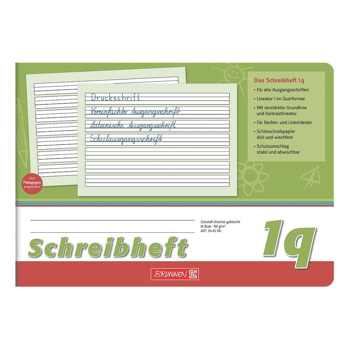 Brunnen Schreiblernheft A5 quer liniert (Lineatur 1q) »Vivendi 1045941«
