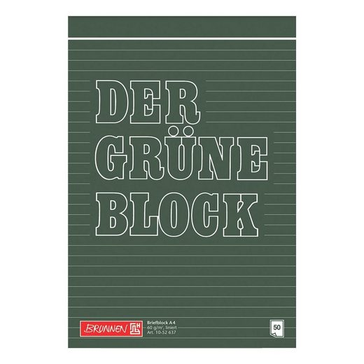 BRUNNEN Briefblock A4 liniert »Der grüne Block«