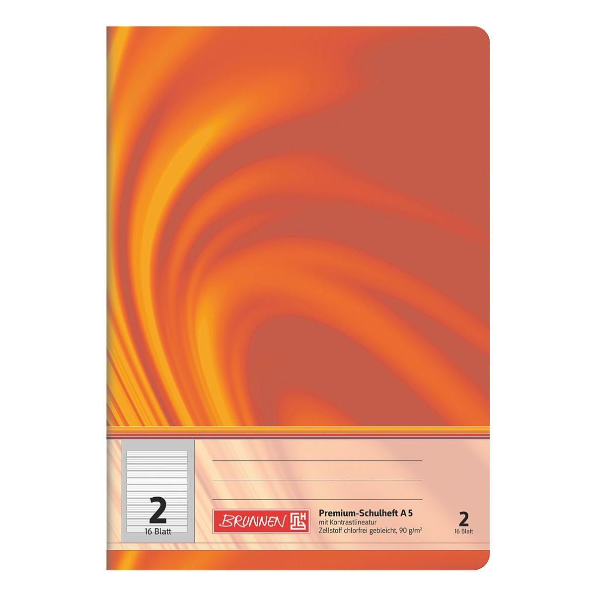 Brunnen Schulheft A5 liniert (Lineatur 2) »Vivendi 104570202«
