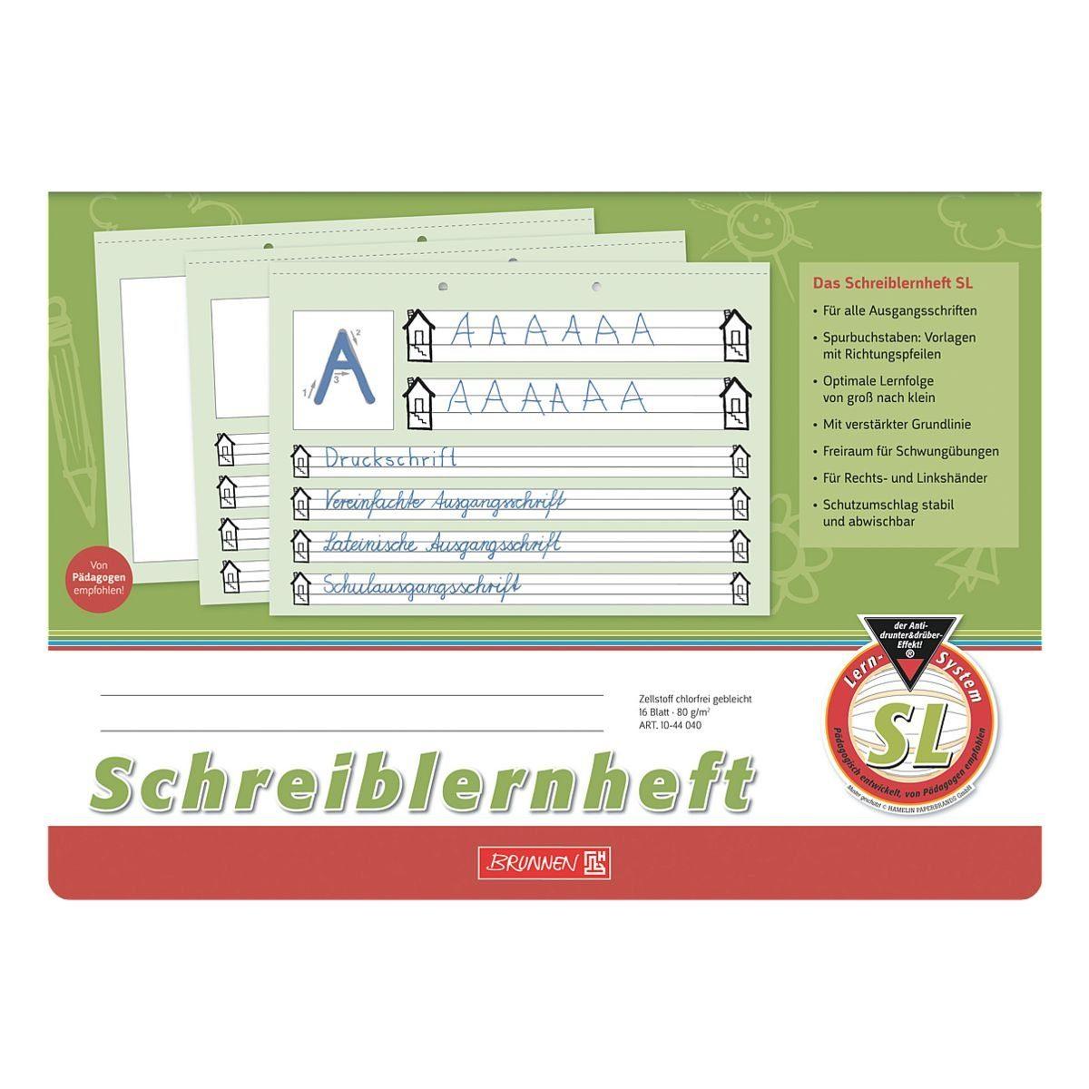 BRUNNEN Schreiblernheft A4 quer liniert (Lineatur SL) »1044040«