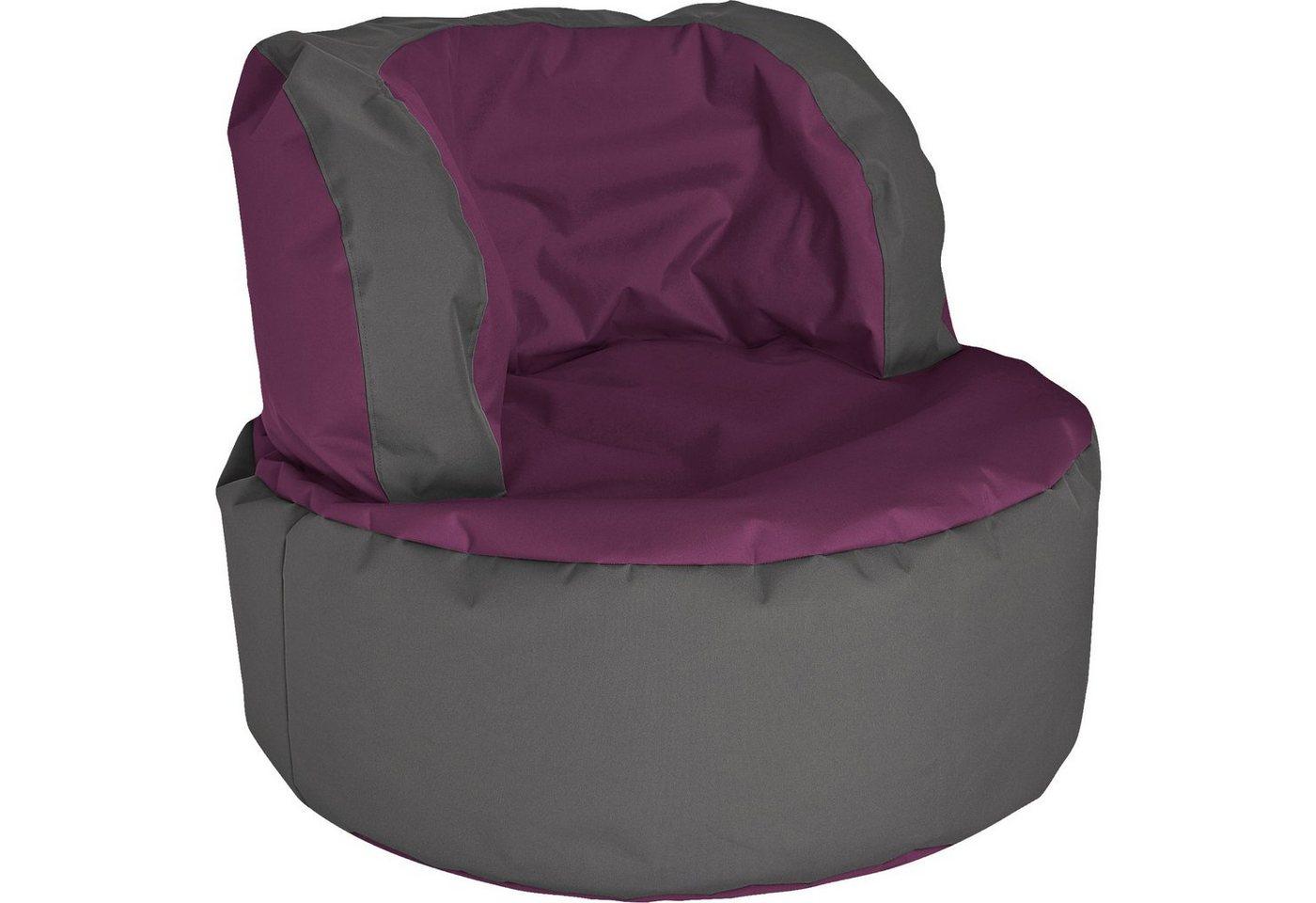 Sitzmöbel - Sitting Point Sitzsack Bebop SCUBA, aubergine  - Onlineshop OTTO