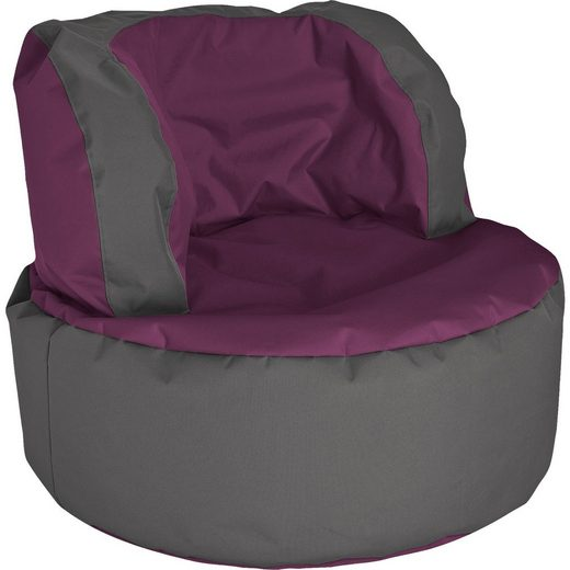 Sitting Point Sitzsack Bebop SCUBA, aubergine