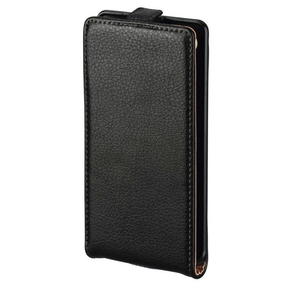 Hama Leder Hülle für Sony Xperia Z5 Compact Handytasche Tasche »Handy Schutzhülle Flip Case« in Schwarz