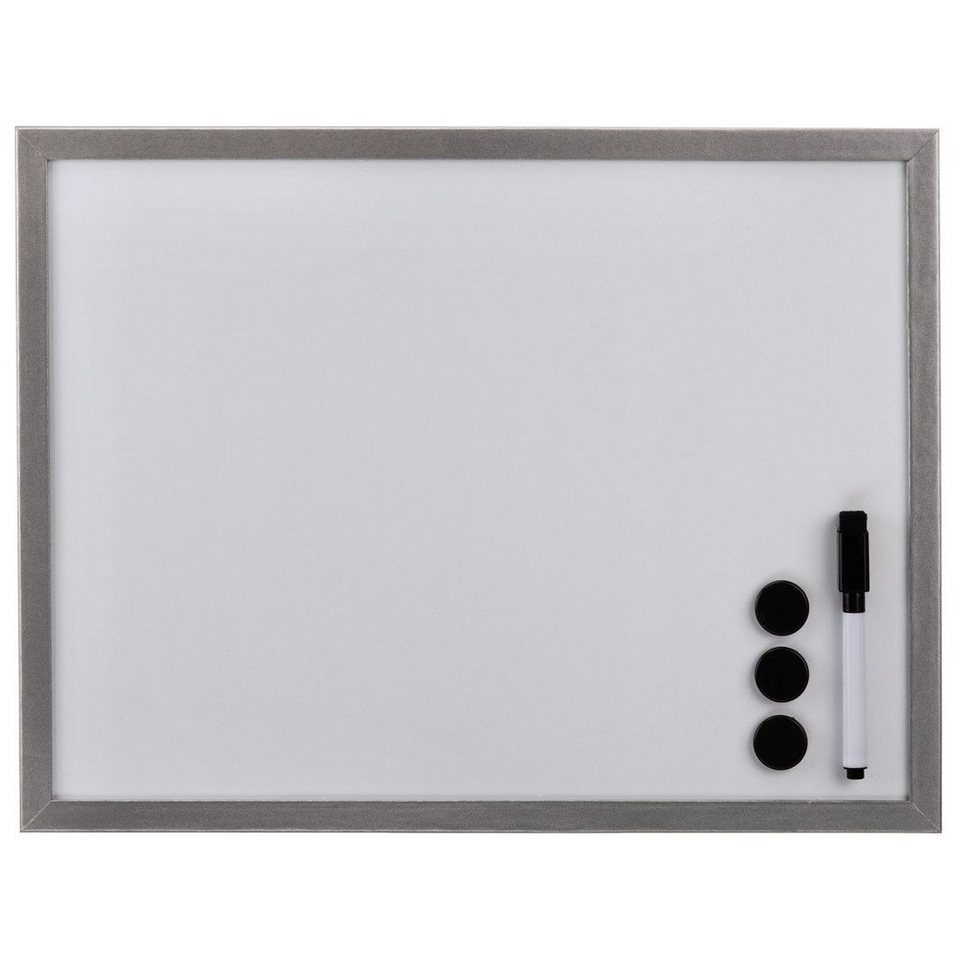 Hama Whiteboard, 60 x 80 cm, Holz, Silber in Silber