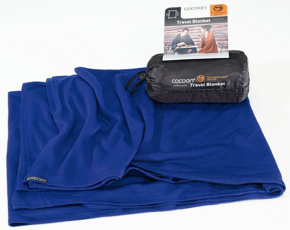 Cocoon Reisedecke »Travel Blanket Merino Wool/Silk« in blau