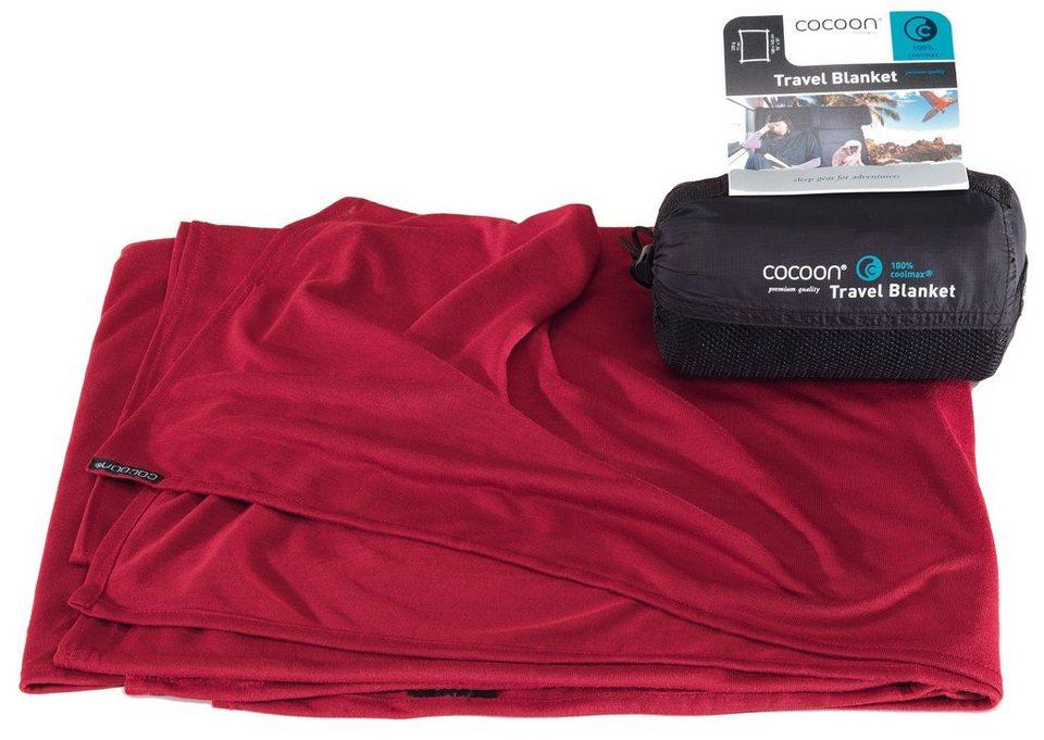Cocoon Reisedecke »Travel Blanket CoolMax« in rot