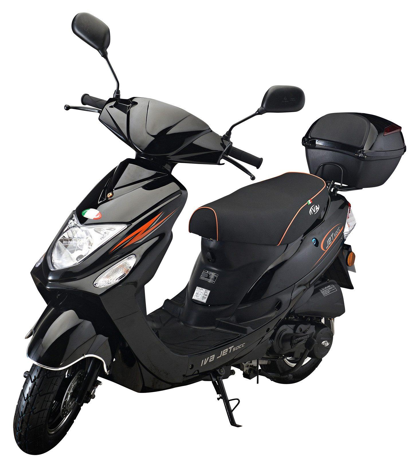 IVA Motorroller inkl. Topcase, 49 ccm, 45 km/h, schwarz, »Jet New«