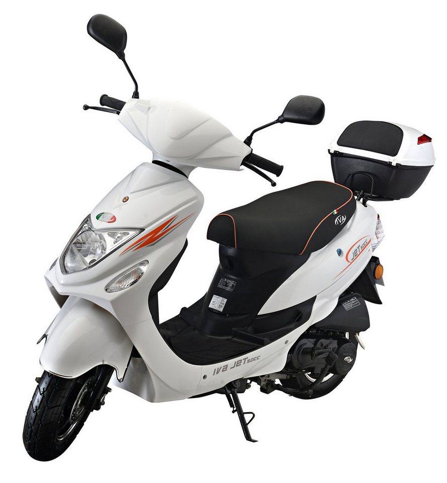IVA Mofaroller inkl. Topcase, 49 ccm, 25 km/h, weiß, »Jet New« in weiß