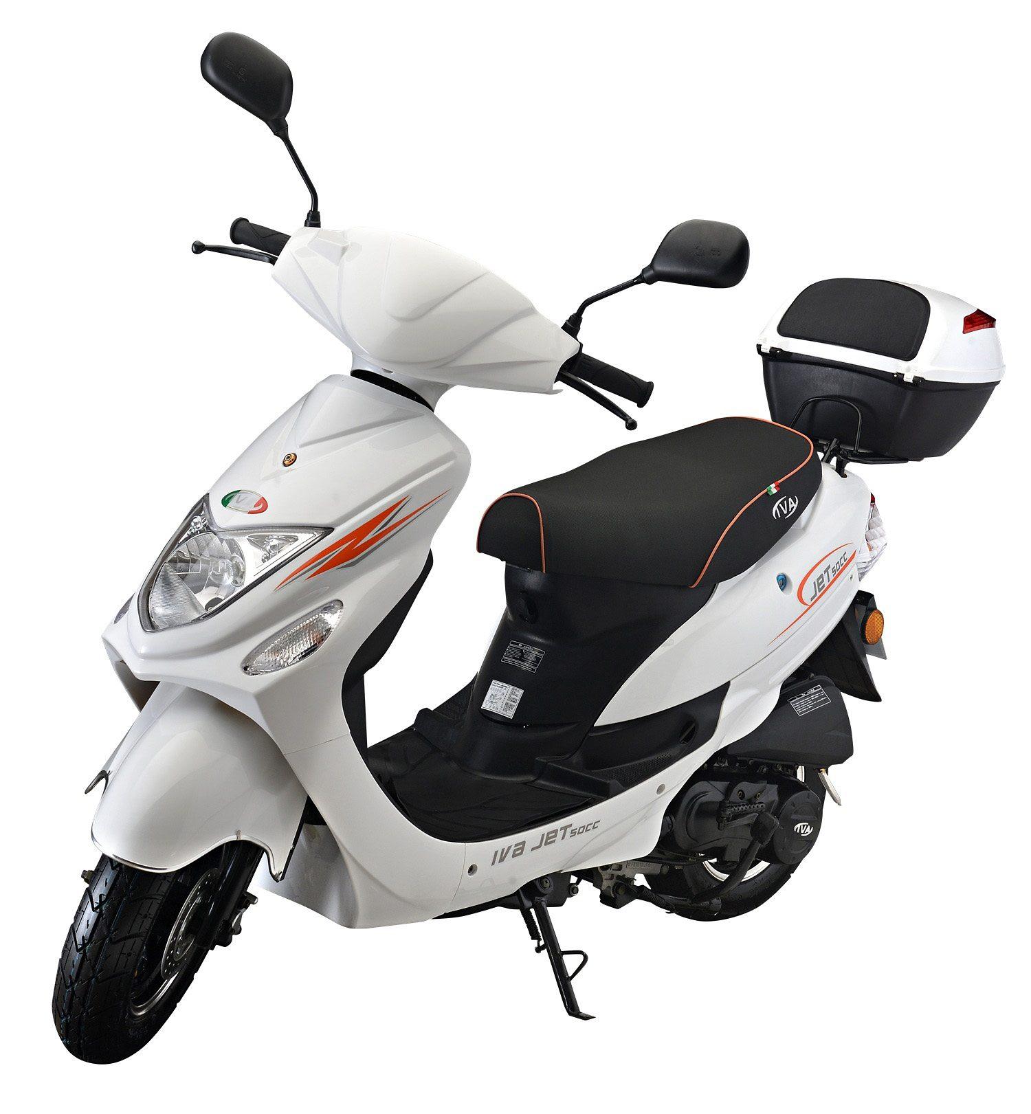 IVA Mofaroller inkl. Topcase, 49 ccm, 25 km/h, weiß, »Jet New«
