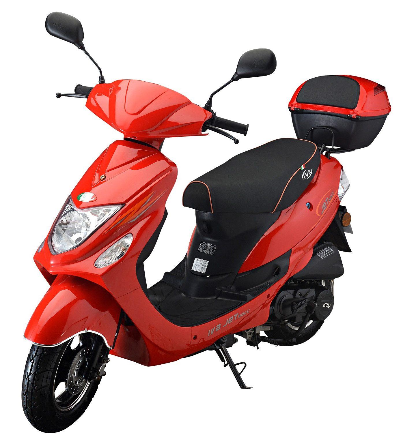 IVA Motorroller inkl. Topcase, 49 ccm, 45 km/h, rot, »Jet New«