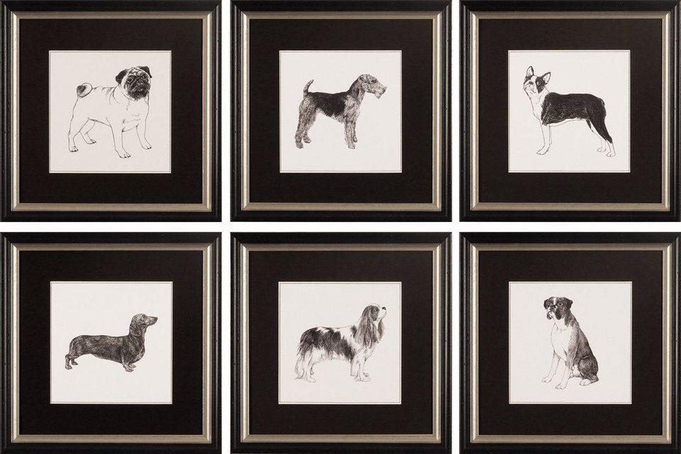 G&C gerahmter Kunstdruck »Meagher: Best in Show Bilderset«, 6 Motive à 30/30 cm in Schwarz/weiß