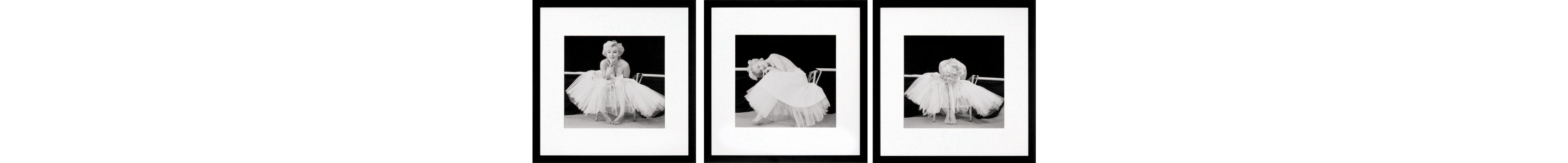 G&C gerahmte Fotografie »Marilyn Monroe Bilderset«, 3 Motive à 40/40 cm