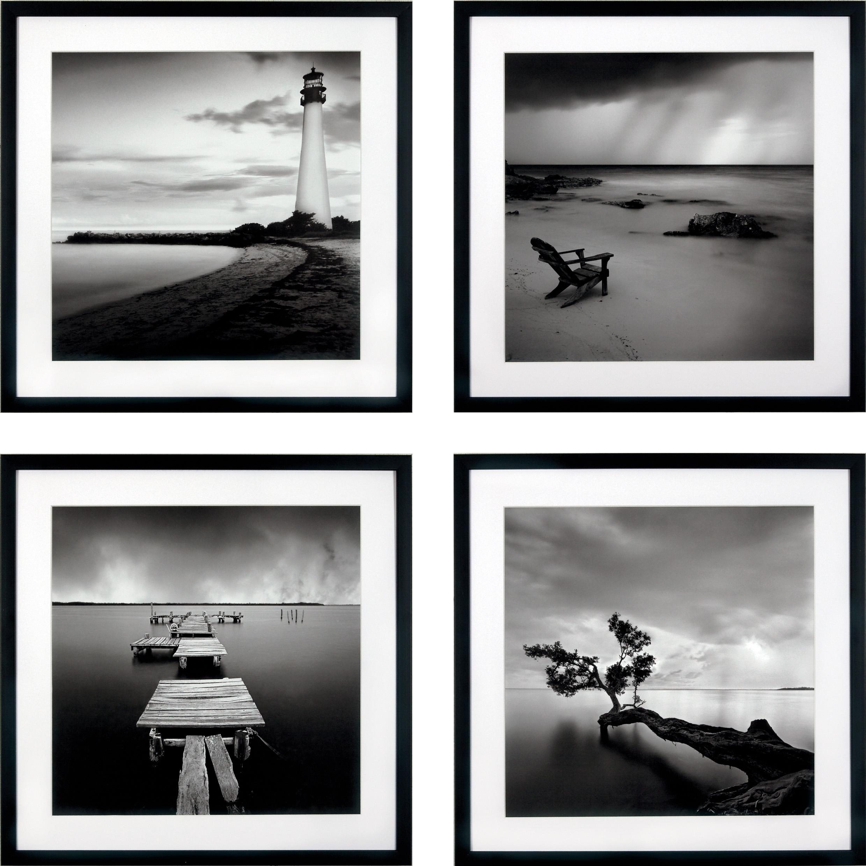 G&C gerahmter Kunstdruck »Levy: Beach Bilderset«, 4 Motive à 50/50 cm