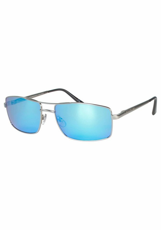 ROUTE 66 Feel the Freedom Eyewear Sonnenbrille mit doppeltem Nasensteg in silberfarben