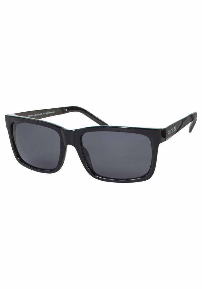 ROUTE 66 Feel the Freedom Eyewear Sonnenbrille in coolem Design in schwarz