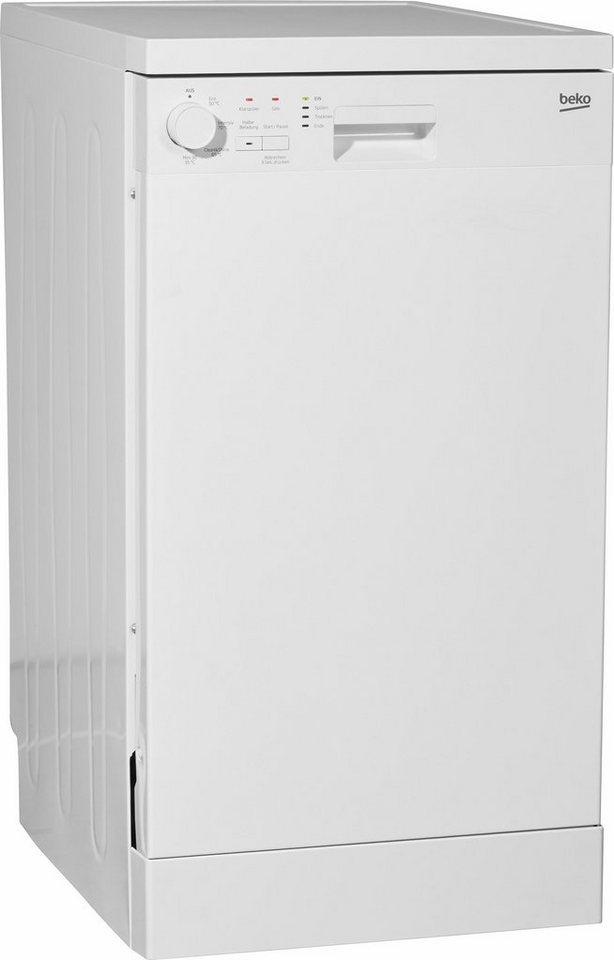 Beko Geschirrspüler DFS04010W, A+, 13 Liter, 10 Maßgedecke in Weiß