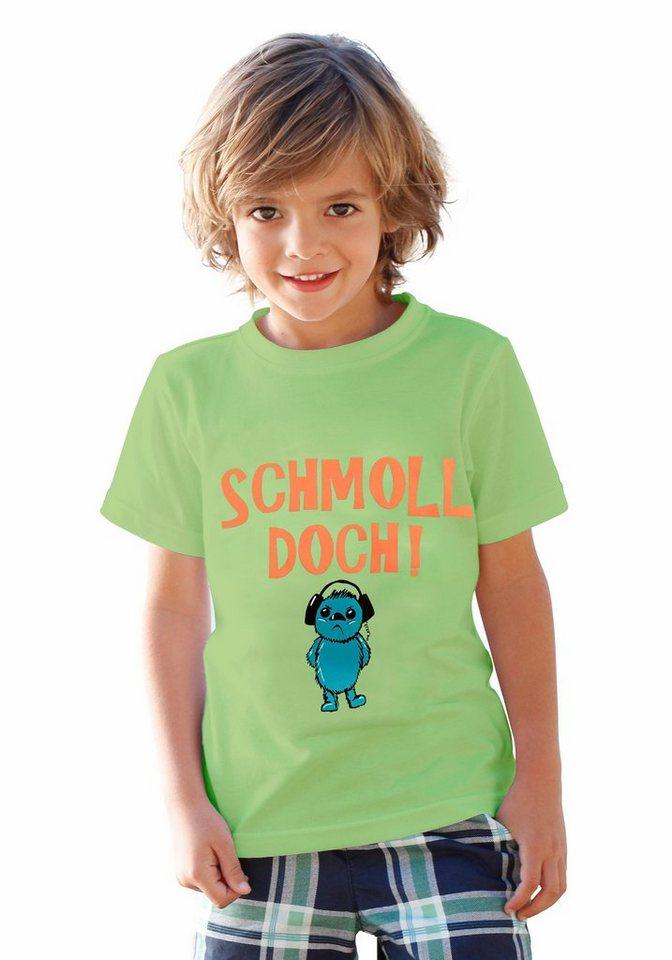 """KIDSWORLD T-Shirt """"SCHMOLL DOCH!"""" in limette"""