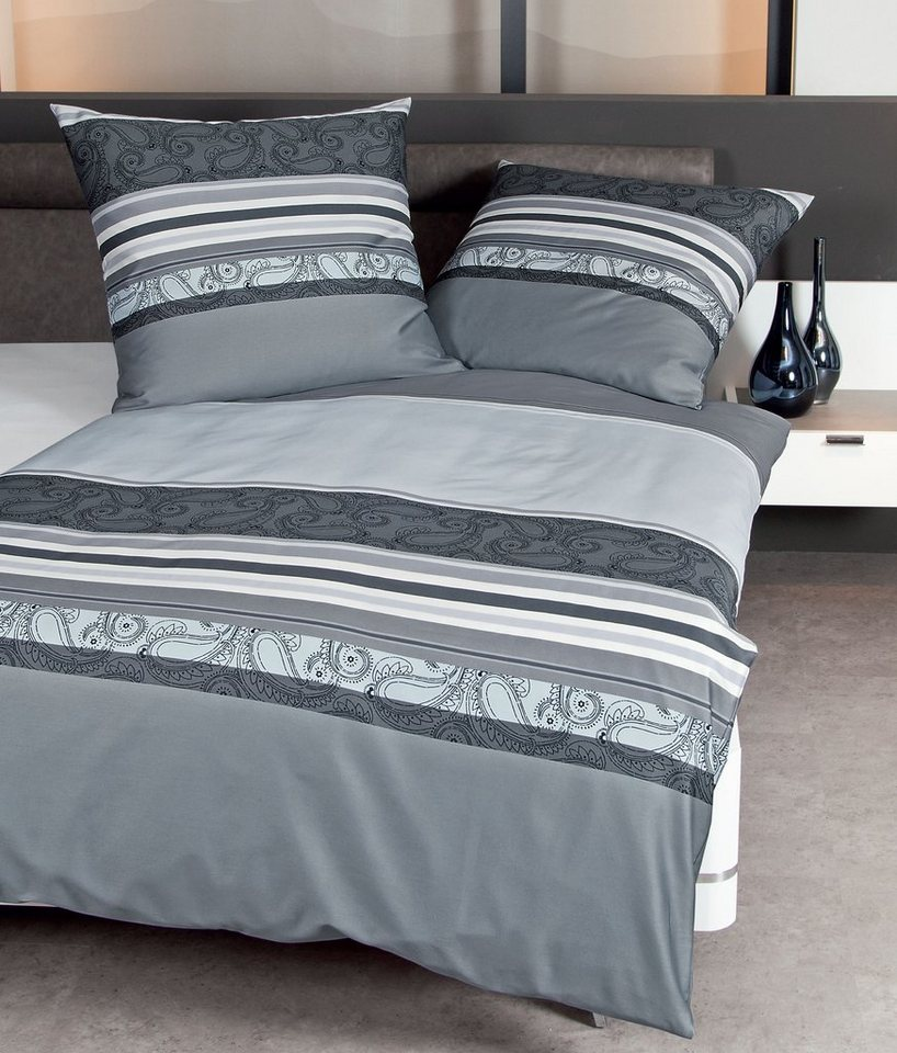 bettw sche janine paisley stripe mit feinem paisley. Black Bedroom Furniture Sets. Home Design Ideas