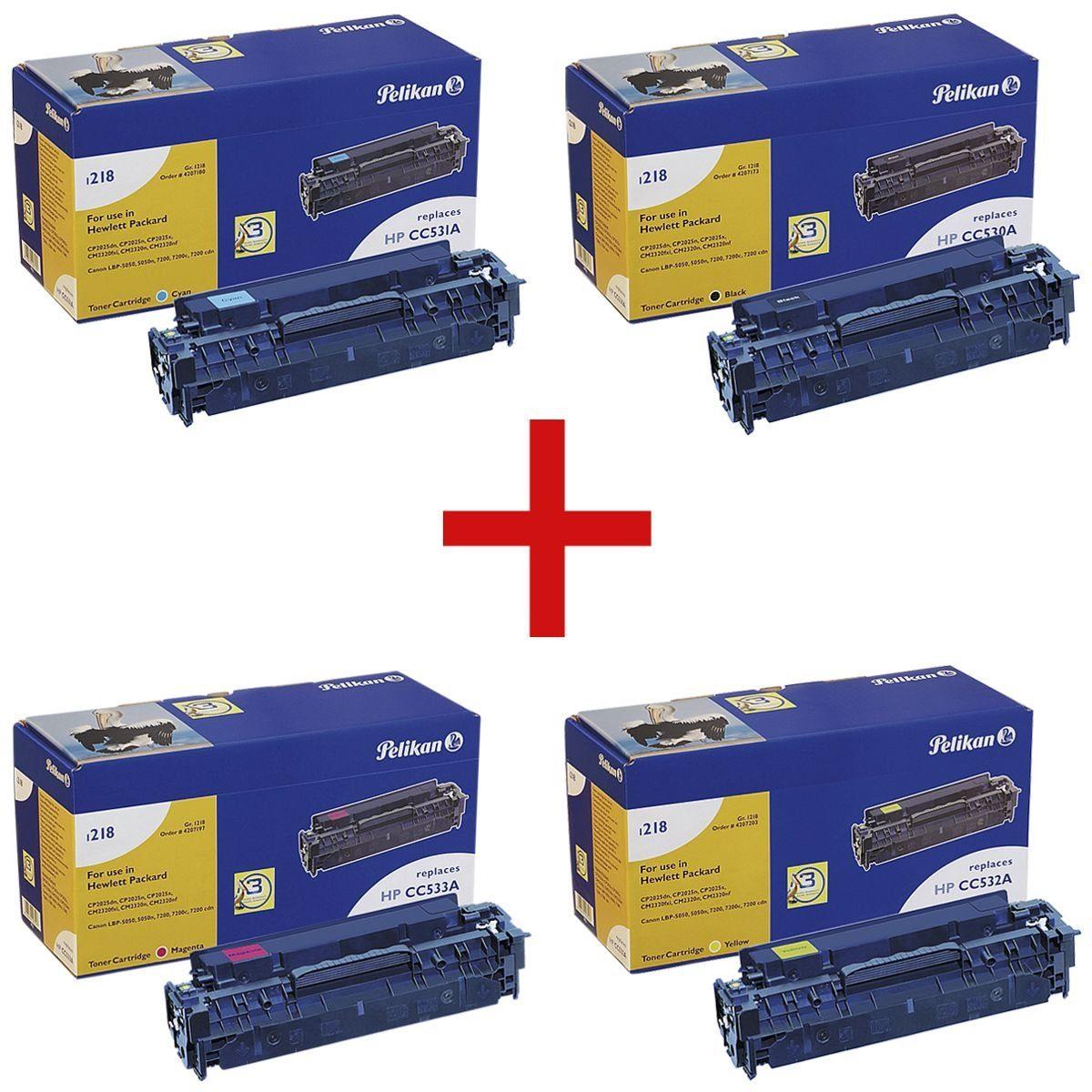 Pelikan Toner-Set ersetzt HP 304A »CC530A / CC531A / CC532A / CC533A« 1 Set