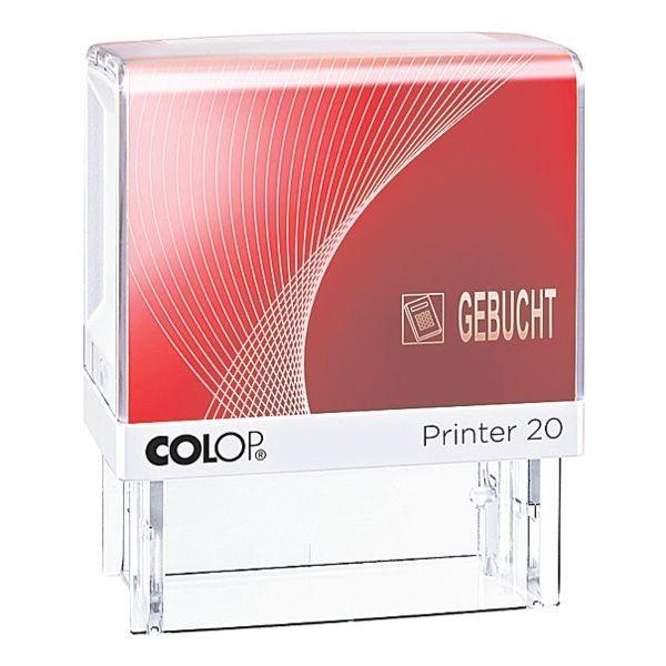 COLOP SelbstfärbenderTextstempel mit Symbol »Printer 20/L Gebucht«