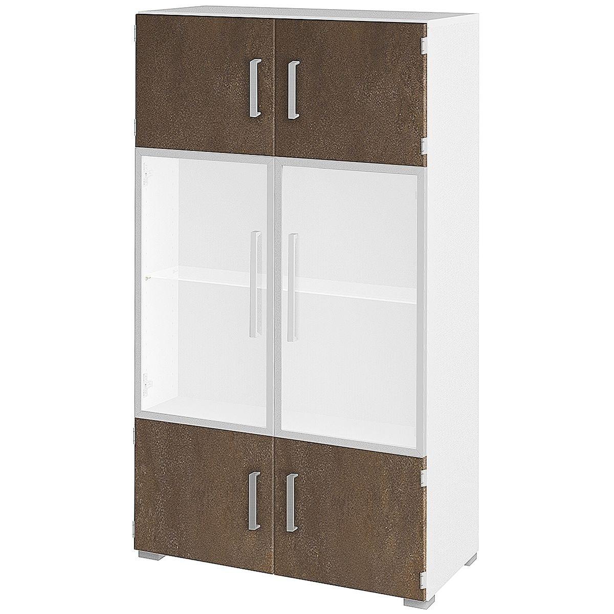 Aktenschrank 4 OH breit 1 Glasboden »Objekt Plus«   Büro > Büroschränke > Aktenschränke   Kunststoff