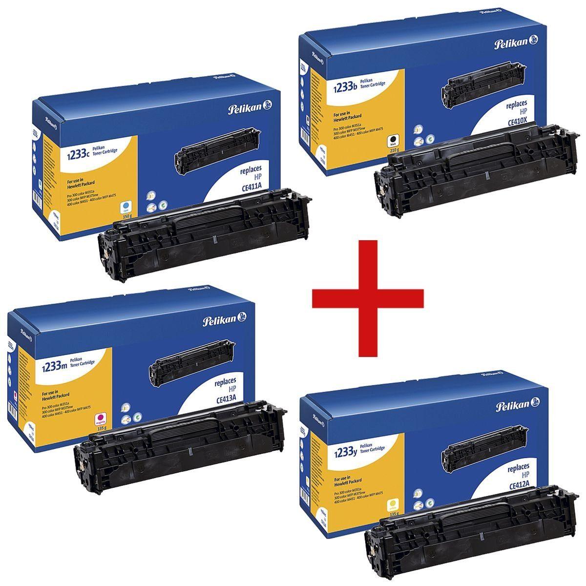 Pelikan Toner-Set ersetzt HP 305X »CE410X / CE411A / CE412A / CE413A« 1 Set