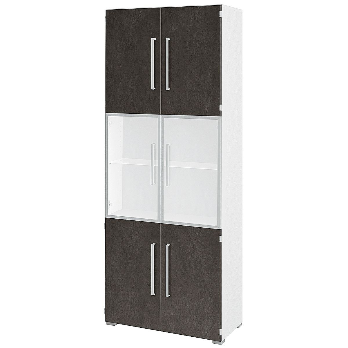 Aktenschrank 6 OH breit 1 Vitrinentür »Objekt Plus« | Büro > Büroschränke > Aktenschränke | Kunststoff | KEINE MARKE