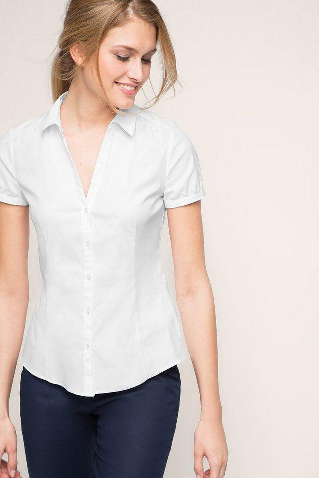 ESPRIT COLLECTION Business-Bluse aus Popelin mit Stretch in WHITE