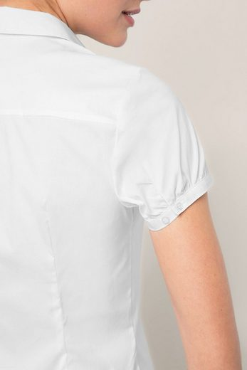 ESPRIT COLLECTION Business-Bluse aus Popelin mit Stretch