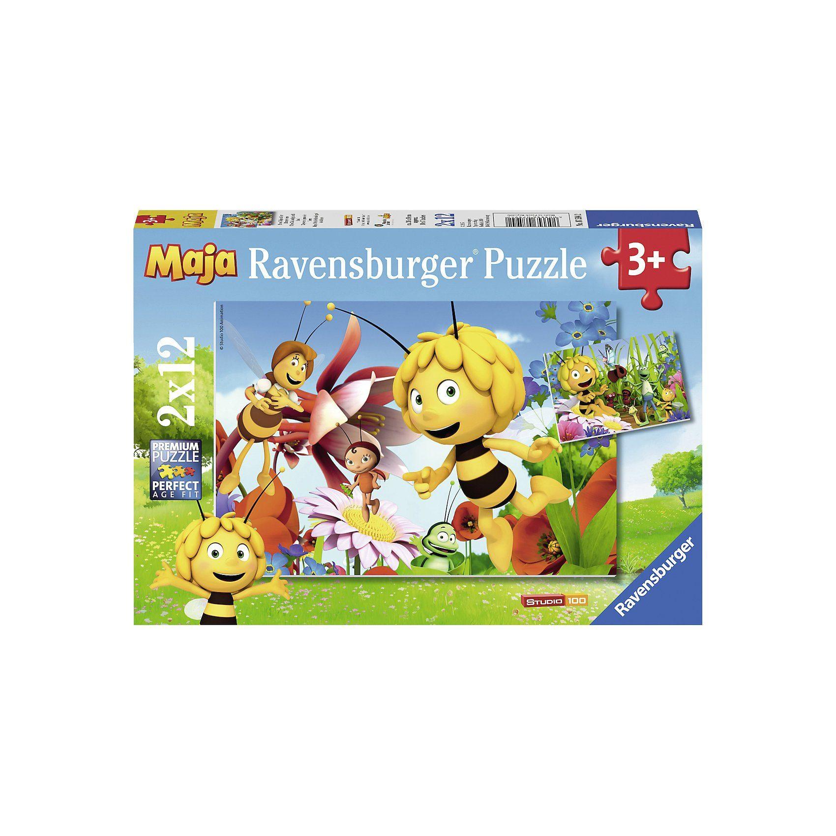 Ravensburger Puzzle Biene Maja auf Blumewiese 2 x 12 Teile