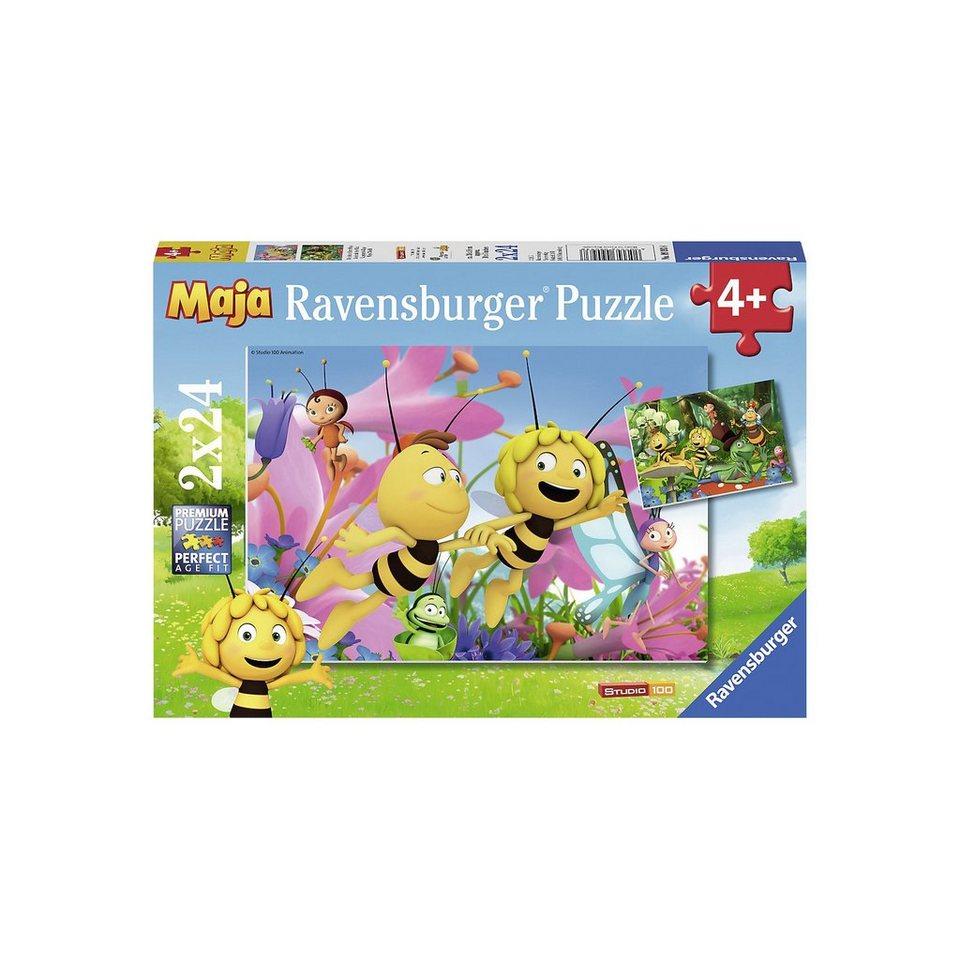 Ravensburger Puzzle Die kleine Biene Maja 2 x 24 Teile