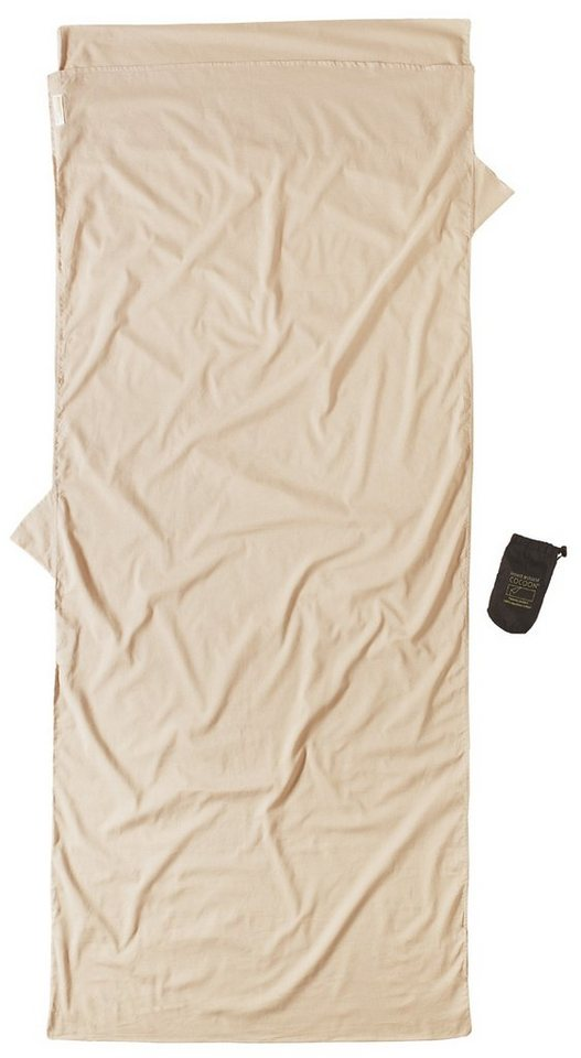 Cocoon Schlafsack »Insect Shield TravelSheet Inlet Egyptian Cotton« in beige